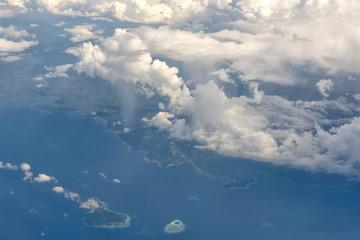 Indonesia Sulawesi Manado Area Aerial view