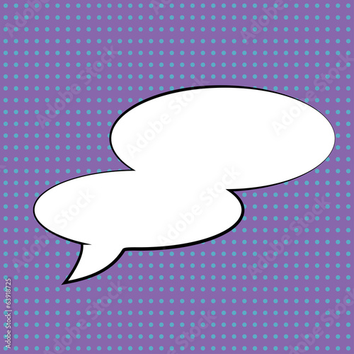 pop art text bubble, illustration in vector format