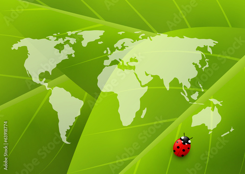 Green organic background for Your design