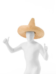 faceless mexican sombrero dancing