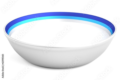 realistic 3d render of bowl with milk