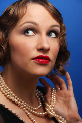 Portrait of an tractive elegant young woman.