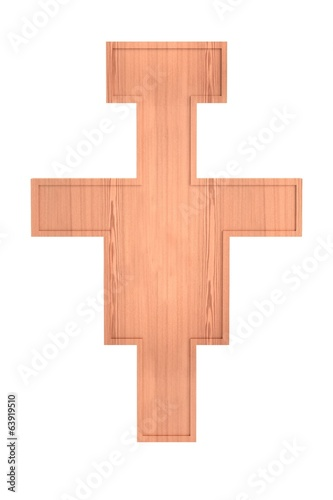 realistic 3d render of crucifix