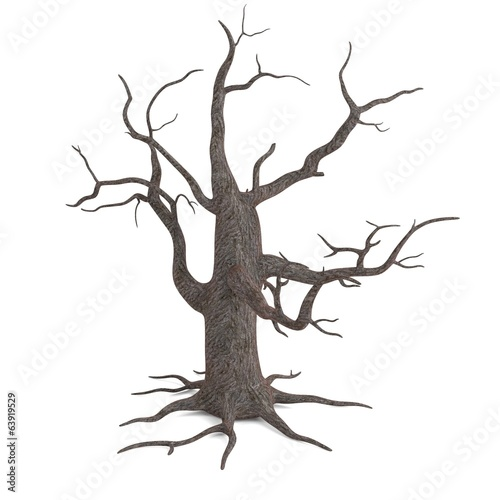 realistic 3d render of dead tree