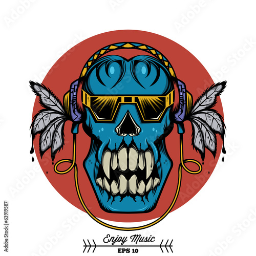 Enjoy Music Skull