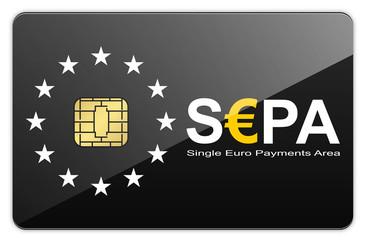 Schwarze glänzende S€PA Chipkarte