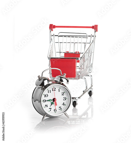 Buying time concept with clock