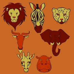 African Animal Head