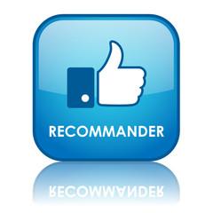 """Bouton Web """"RECOMMANDER"""" (j'aime partager like réseaux sociaux)"""