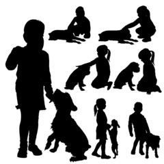 Vector silhouette of child.