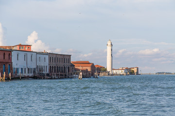 Lighthouse and Buildings in Murano
