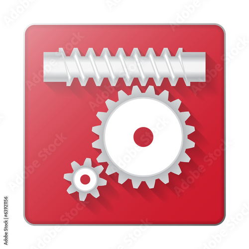 Gears icon abstract background