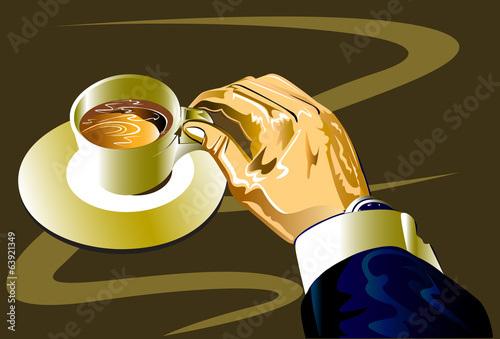coffee and man business art