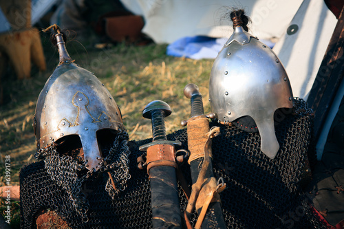 Knights Helmets and swords