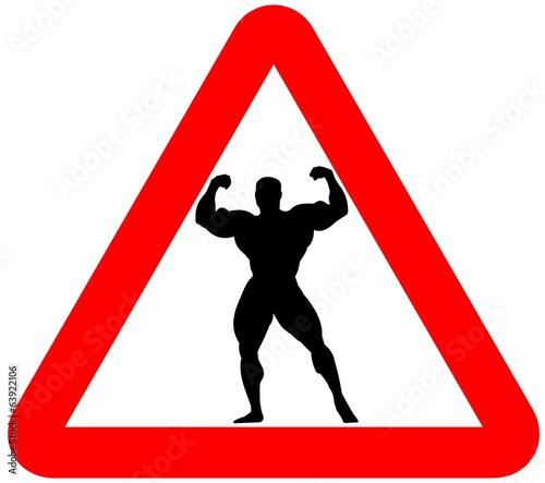 attention bodybuilders sign