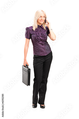 Working woman talking on the phone