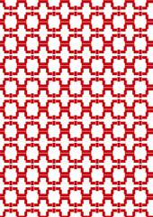 Red Motif Pattern