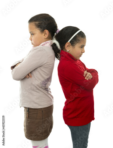 Two Girls in Quarrel