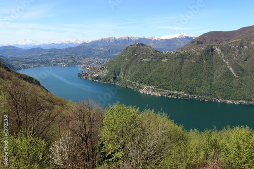 lago di Lugano dalla valle d'Intelvi