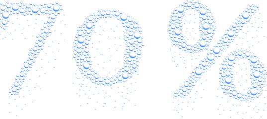 krople wody 70%