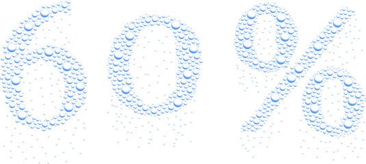 krople wody 60%