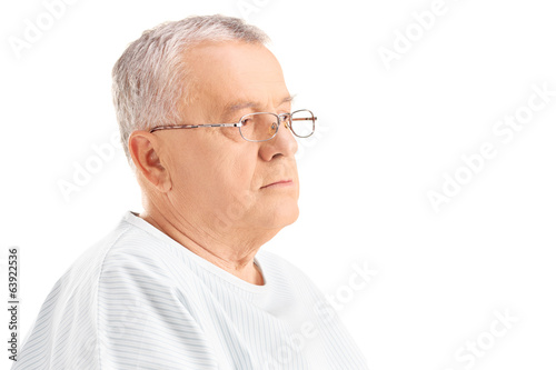 Mature male patient looking in the distance