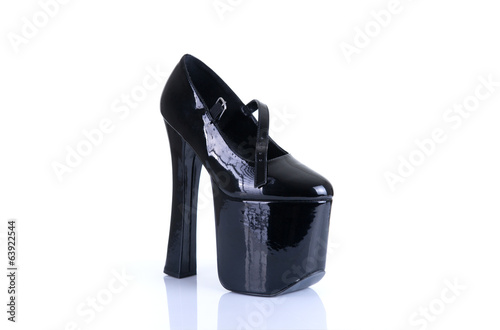 High heeled fetish shoe