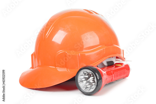 Construction helmet and lantern