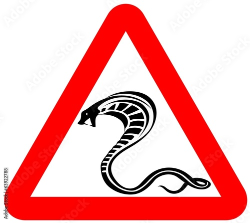 attention snakes sign