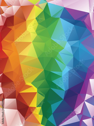 Rainbow Polygonal Background