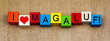 Magaluf, Majorca, Spain, sign or banner series for holidays and