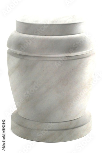 realistic 3d render of urn