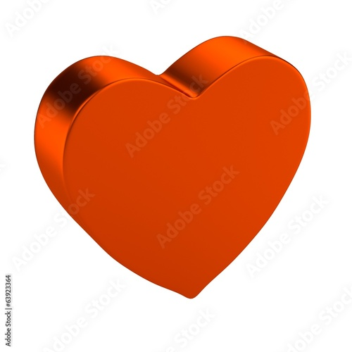 realistic 3d render of valentine heart