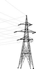 electrical isolated pylon and cables