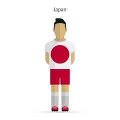 Japan football player. Soccer uniform.