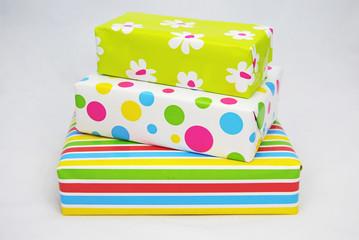 Prachtige gekleurde pakjes