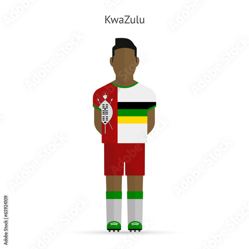 KwaZulu football player. Soccer uniform.