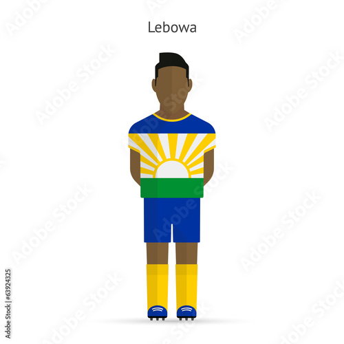 Lebowa football player. Soccer uniform.