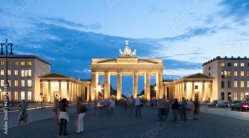 Pariser square and Brandenburg Gate in Berlin Germany