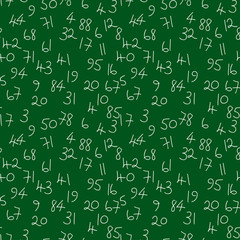 Numbers seamless pattern