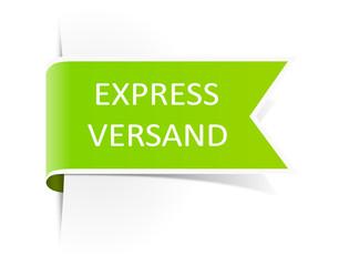 Schild Aufkleber Expressversand grün