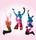 Ballerinini con macchie di colore