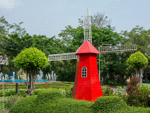 Red windmill