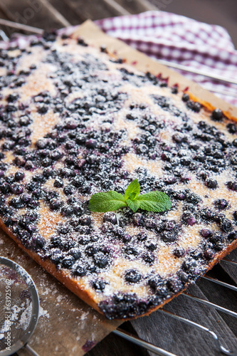 Homemade blueberry cake