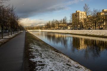 Kolpino, river Izhora