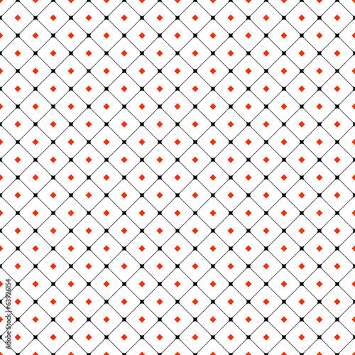 Red squares seamless pattern