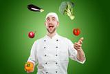 Fototapety Chef Juggler