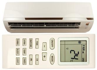 climatiseur, unité intérieure et télécommande