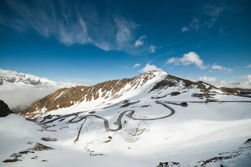 Panoramic view of Grossglockner High-Alpine Road