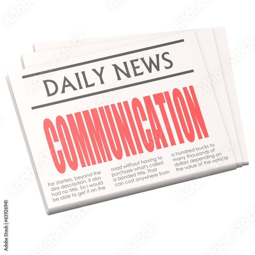 Newspaper communication